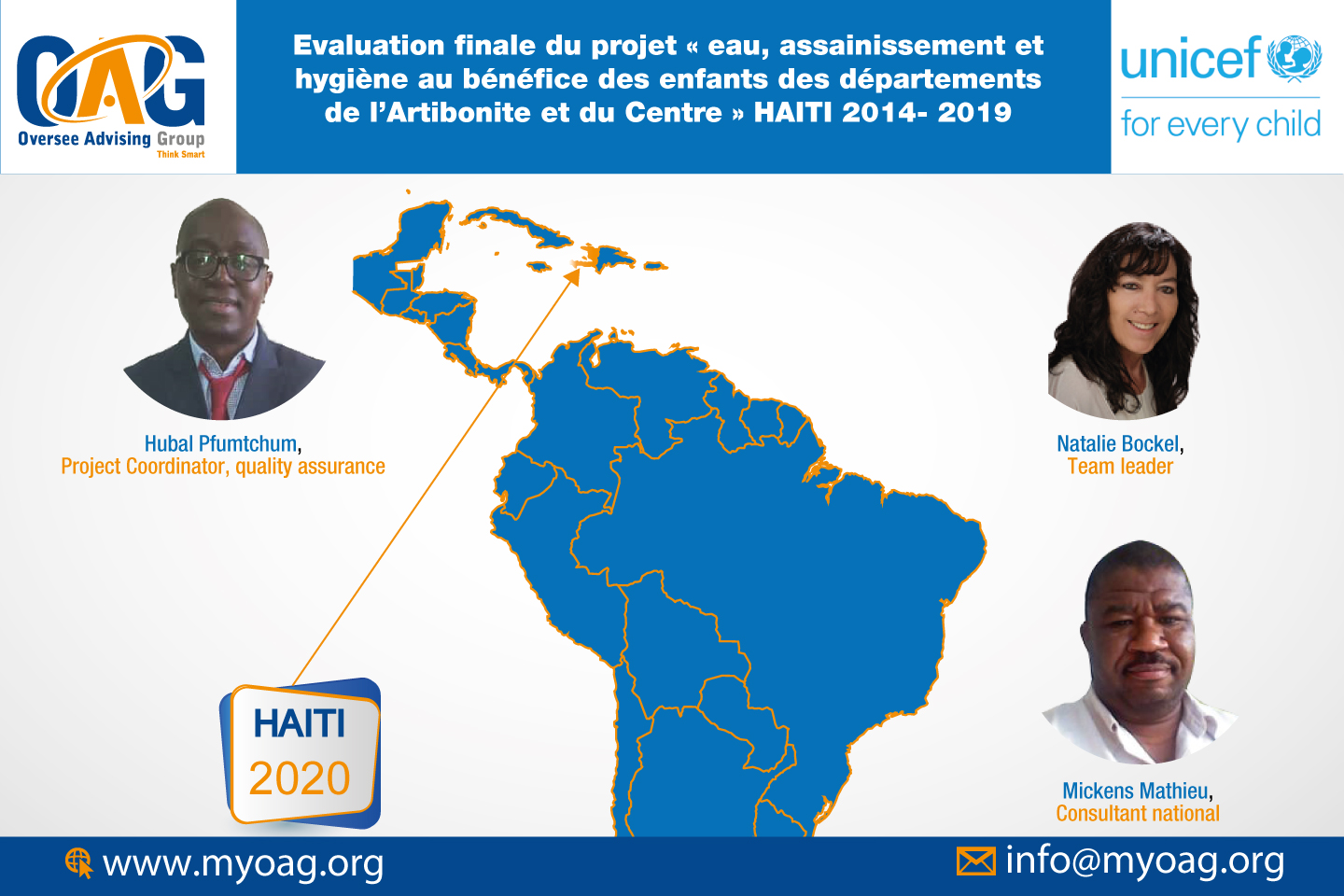 OAG poursuit l'évaluation du projet Wash Unicef en Haiti