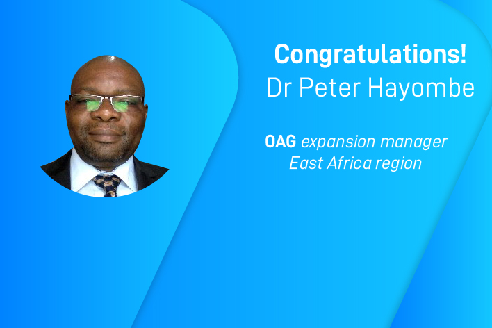 Let's welcome Dr Peter Hayombe, OAG expansion manager East Africa region