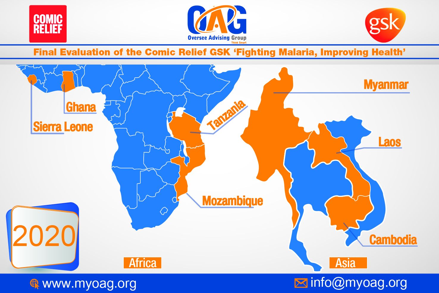 OAG has been selected to conduct the Final Evaluation of the Comic Relief GSK 'Fighting Malaria, Improving Health'